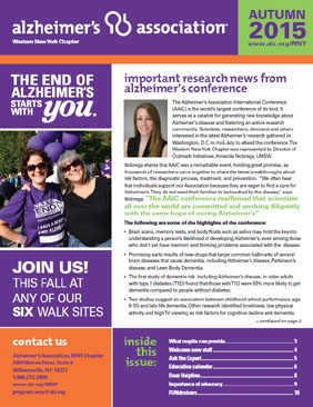 Alzheimer's Association Newsletter